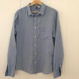 H&M Men's Regular Fit Woven Button Down Shirt